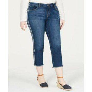 NWT Style & Co Raw Hem Crop Jeans Plus Size 14W